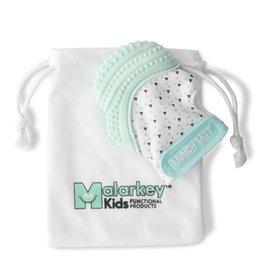 Malarkey Kids Munch Mitt in Mint Green/Triangles