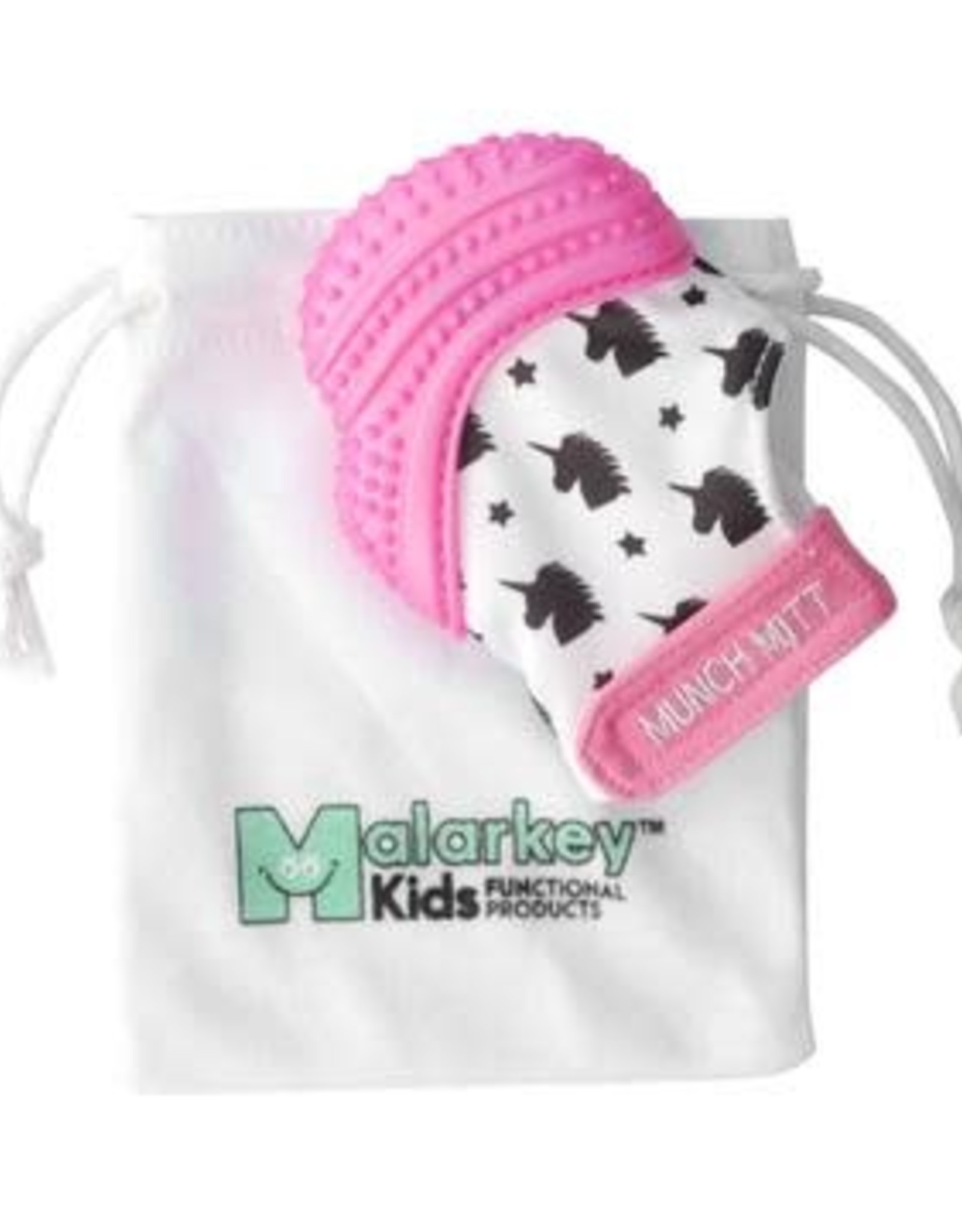 Malarkey Kids Munch Mitt in Pink/Unicorn