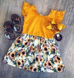 Honeydew Sunflower Dress