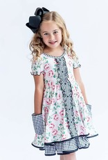 Charlies Project Rose Gingham Ruffle Hugs Collection Dress