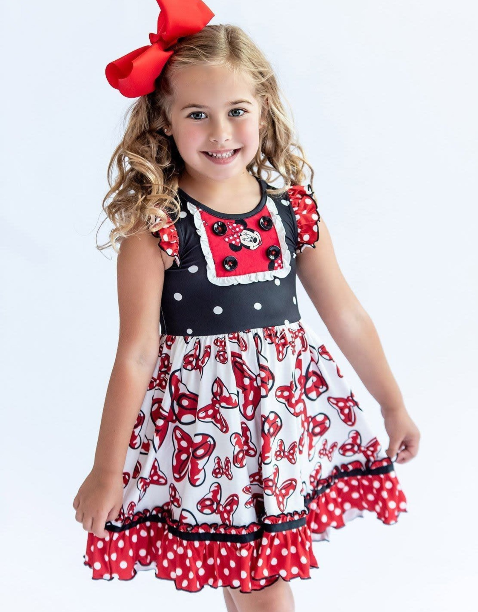 Charlies Project Mini Red Bows Hugs Collection Dress