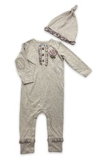 Little Prim Finn Playsuit in Grey