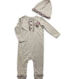 Little Prim Finn Playsuit in Grey