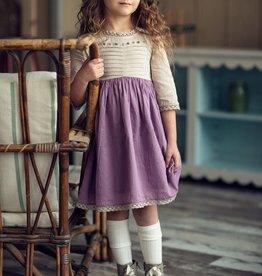 Little Prim Charlie Dress in Plum