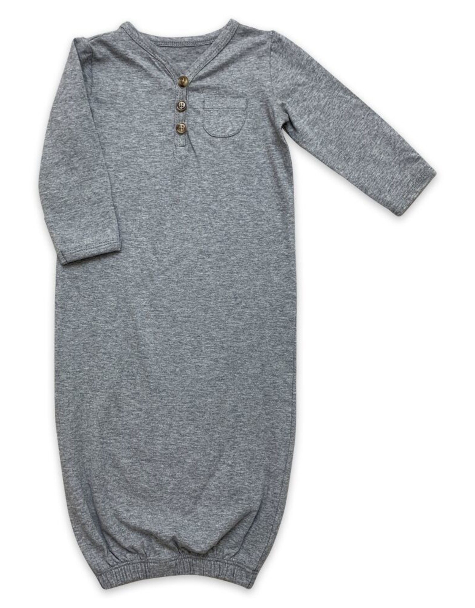 Little Prim Quinny Gown in Grey Size NB