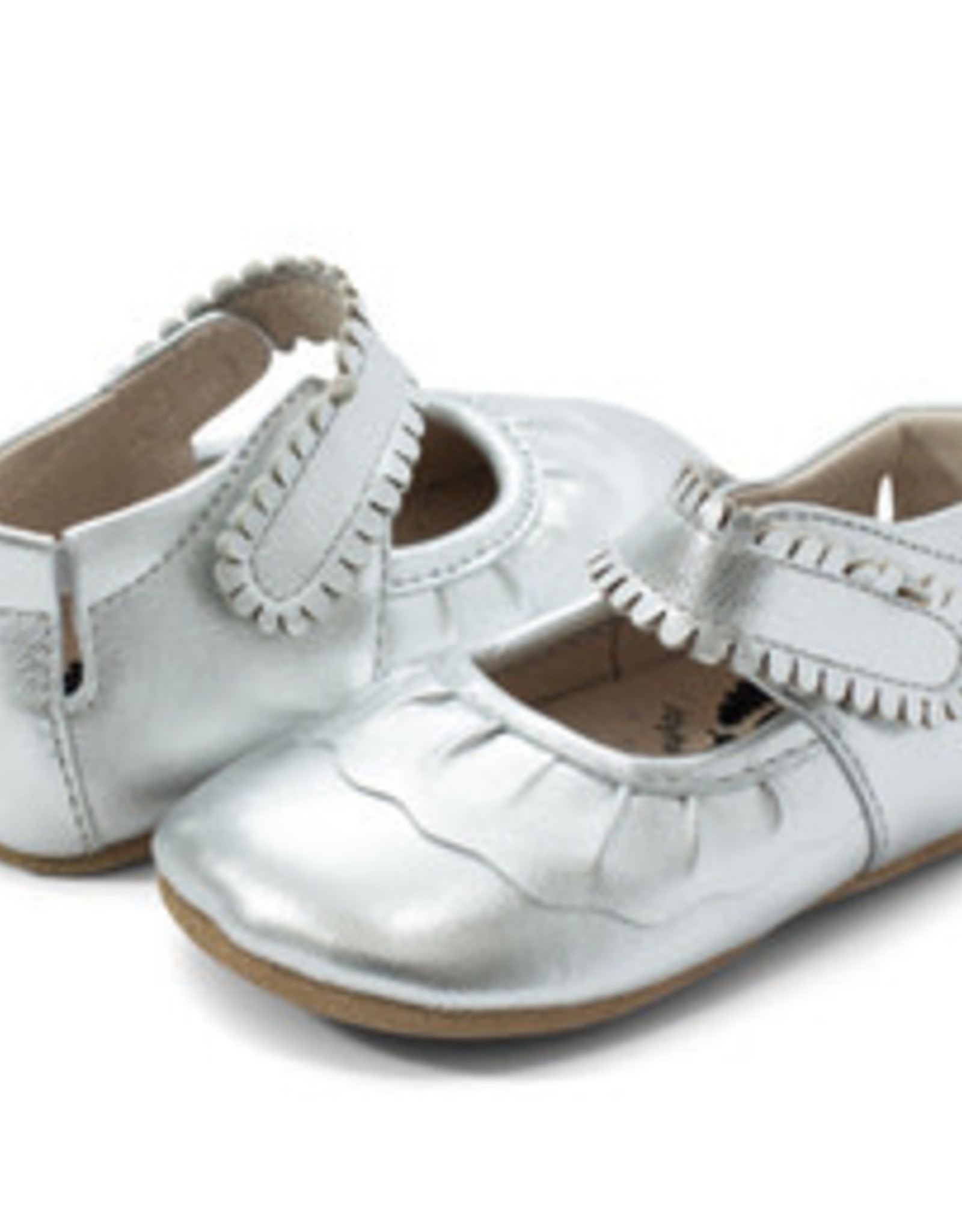 Livie and Luca Ruche for Baby in Silver Metallic