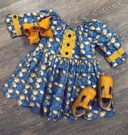 Sage & Lilly Charlotte Dress in Yellow and Blue