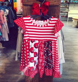 Clover Cottage Red Football Dress