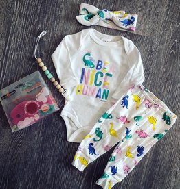UpBaby Girl Dino Pant Set