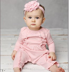 Lemon Loves Layette Victoria Romper in Rose Shadow