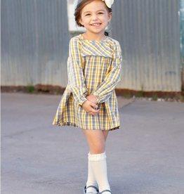 RuffleButts Parker Plaid Button Back Dress