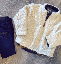 Southbound Winter White Sherpa Pullover