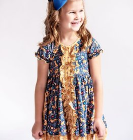Charlies Project Floral Fox Ruffle Hugs Collection Dress