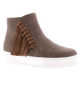 Volatile Lance Sneaker with Side Fringe Detail in Brown