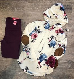 Pomelo The Nikki Floral Hoodie