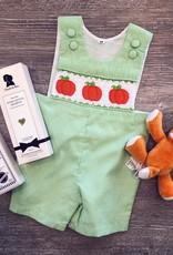 Honeydew Smocked Pumpkin Shortall