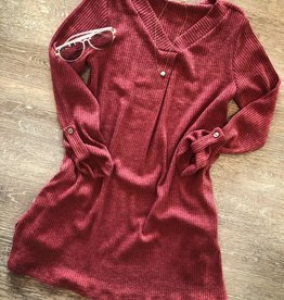 For All Seasons Berry Rib Dress