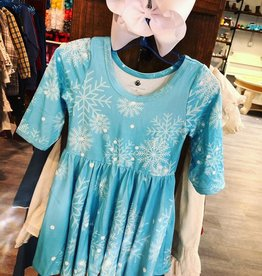 Charlies Project Frozen Snowflakes 3/4 Sleeve Dress