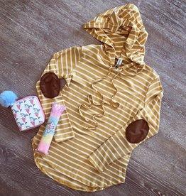 Pomelo Mustard Stripe Hoodie