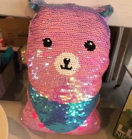 Iscream Mini Llama Sequin Pillow