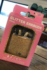 Iscream Gold Glitter Earbuds