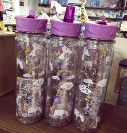 Iscream Unicorn Wishes Glitter Water Bottle