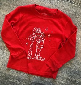 Mustard&Ketchup Kids Red Long Sleeve Santa T-Shirt