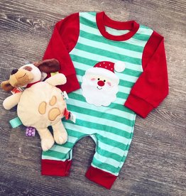 Honeydew Boy Santa Romper