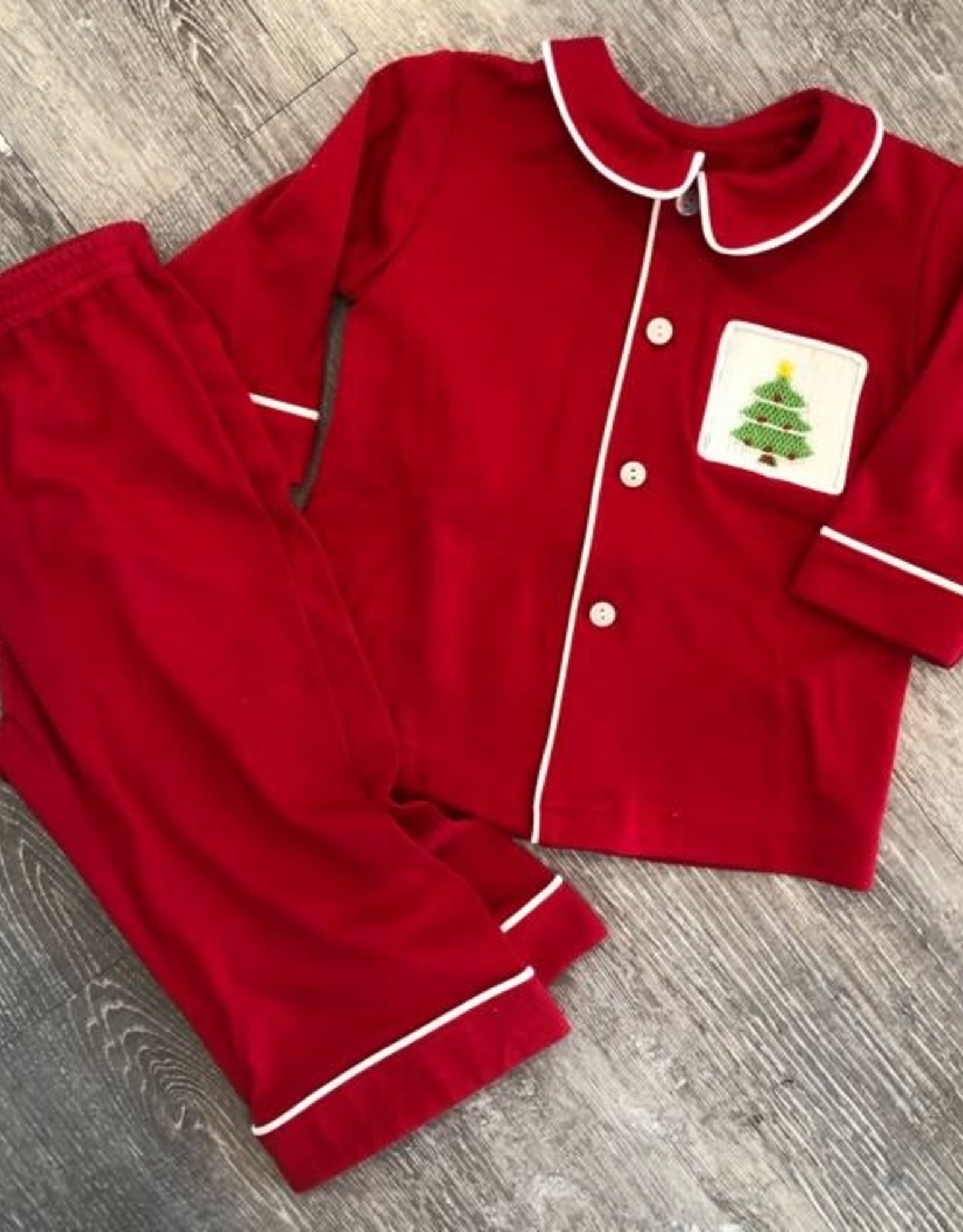 Remember Nguyen Red Pajama Set for Boys
