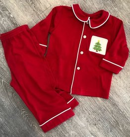 Remember Nguyen Red Pajama Set for Boys