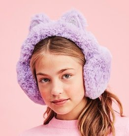 Iscream Purple Furry Cat Ear Muffs