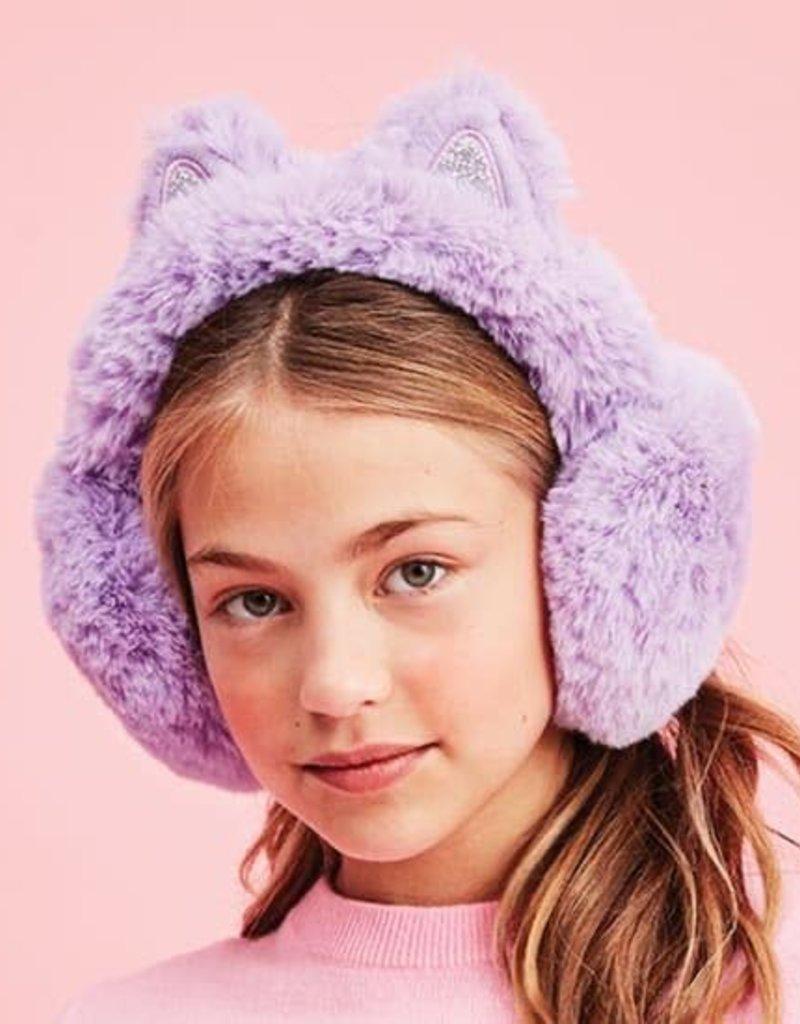 Iscream Purple Furry Cat Ear Muffs