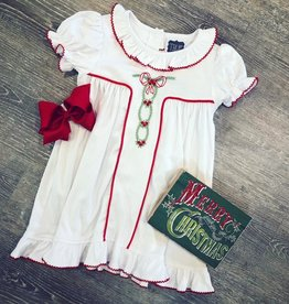 True Christmas Ribbon Embroidered Gown