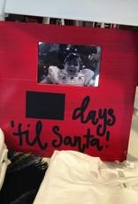 Main Street Collection Days Til Santa Red Frame