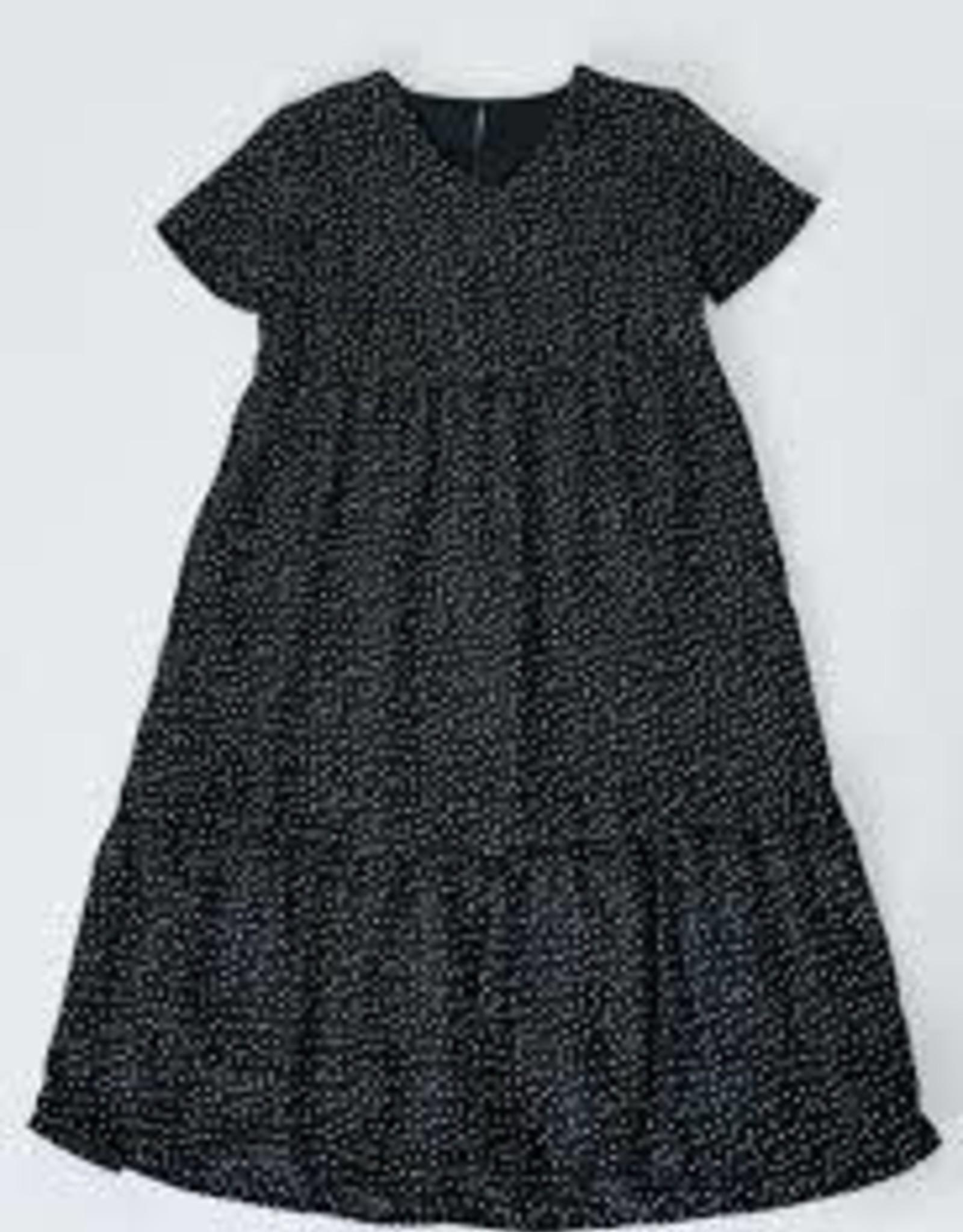 Hayden Black Polka-Dot Ruffle Midi Dress