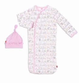 Magnetic Me Pink Taj Express Magnetic Sack Gown Set Size NB-3M