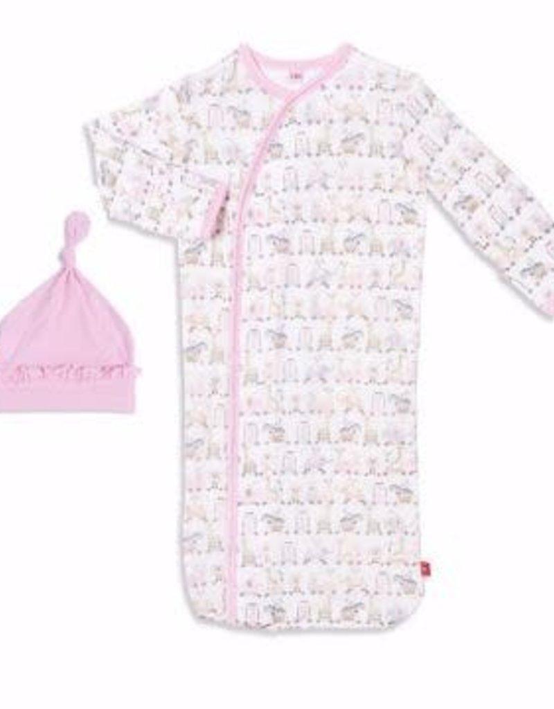Magnetic Me Pink Taj Express Magnetic Sack Gown Set Size NB-3M