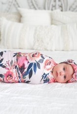 Posh Peanut Dusk Rose Swaddle Headband Set