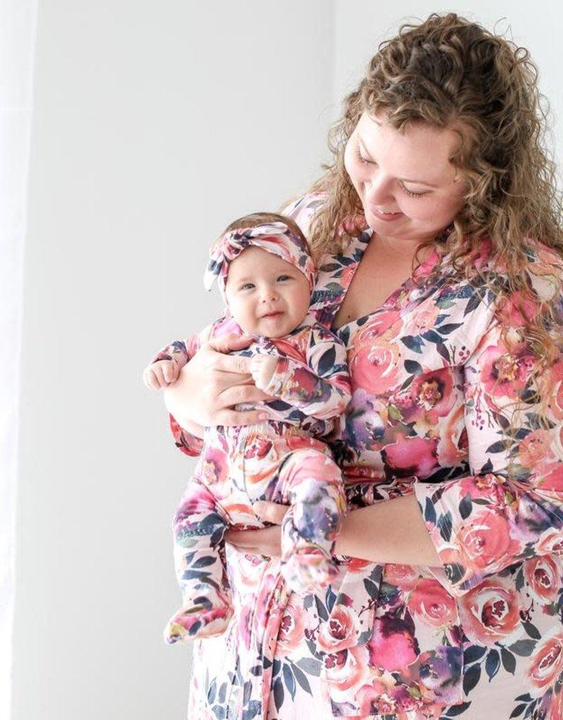 Posh Peanut Dusk Rose Mommy Robe