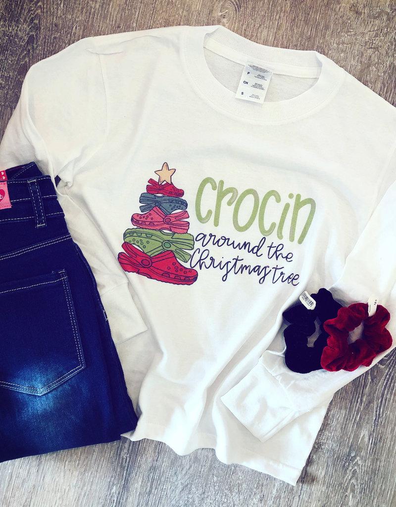 Boutique Crocin Around the Christmas Tree Tee