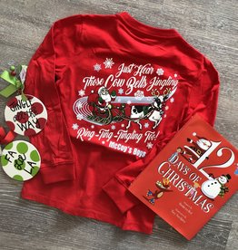 McCoy's Boys Santa Cow Christmas Tee
