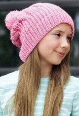 Huggalugs Cable Peony Beanie in Pink