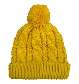 Huggalugs Cable Peony Beanie in Amber