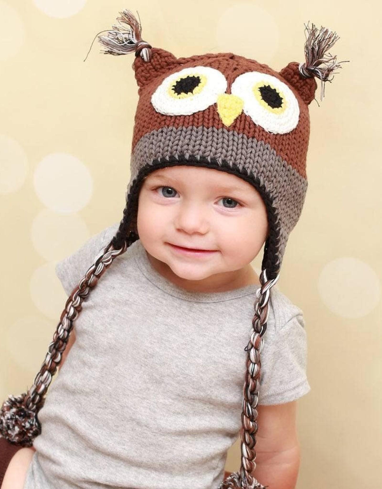 Huggalugs Owl Beanie Hat