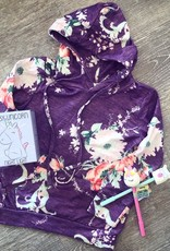 Boutique Purple Floral Hoodie