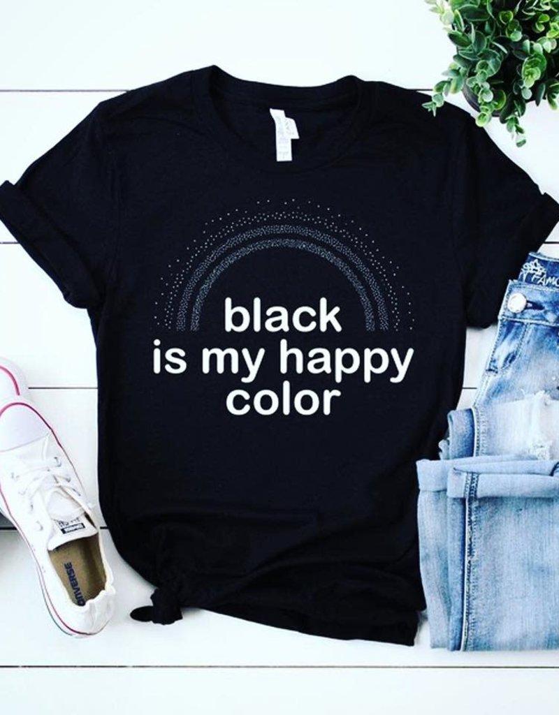 Black is my Happy Color Tee