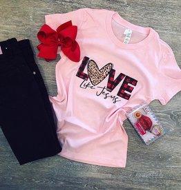 Love Leopard Pink Tee