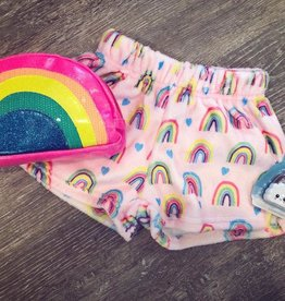 Iscream Rainbow Heart Plush Shorts