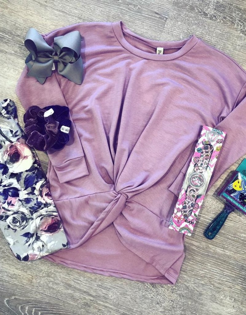 Purple Floral Leggings