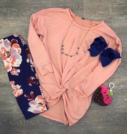 Pomelo Blush Center Knot Top